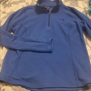 The North Face Fleece blue sweatshirt